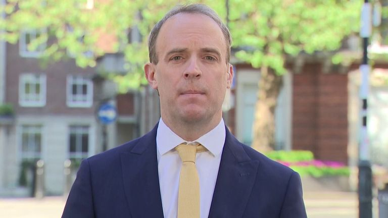 Dominic Raab says lockdown measures must stay in place until the scientists say otherwise