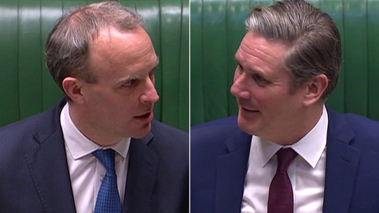 Dominic Raab and Sir Keir Starmer