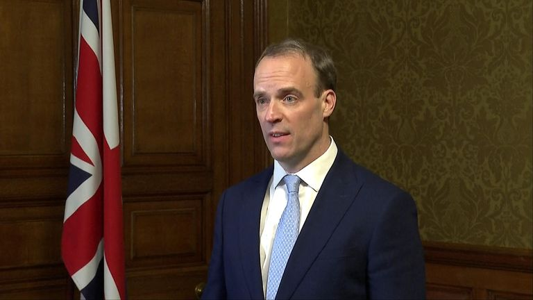 Dominic Raab says government business will continue after PM was moved to intensive care