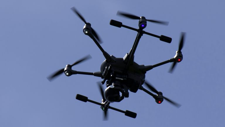 The drone was used to search for suspects