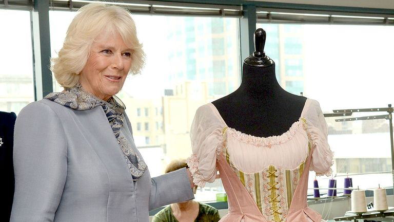 The Duchess of Cornwall visiting the Royal Winnipeg ballet in Canada. Pic: Tim Rooke/Shutterstock