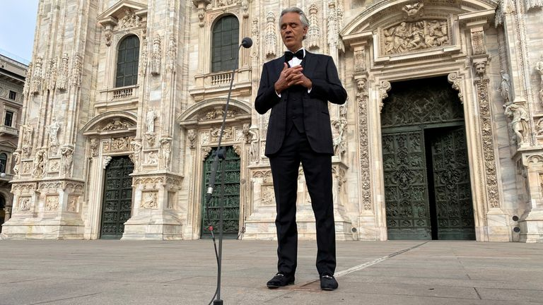 Andrea Bocelli says his 'Music for hope'' event was a  prayer, not a concert