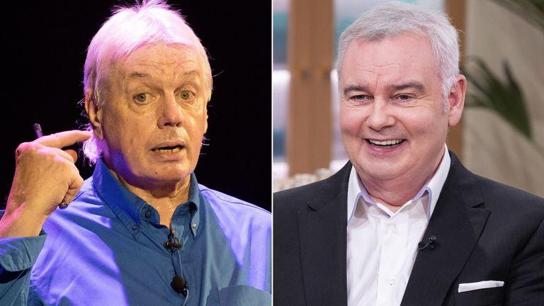 David Icke and Eamonn Holmes. Pics: RMV/Ken McKay/ITV/Shutterstock