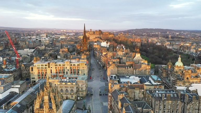 edinburgh scotland aerial view