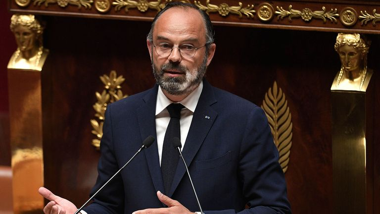 French prime minister Edouard Philippe announced the plans on Tuesday