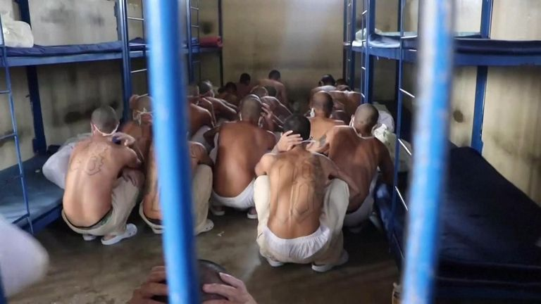 Prisoners from different gangs are in the same cell
