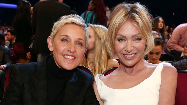 Ellen DeGeneres and wife, actress Portia De Rossi
