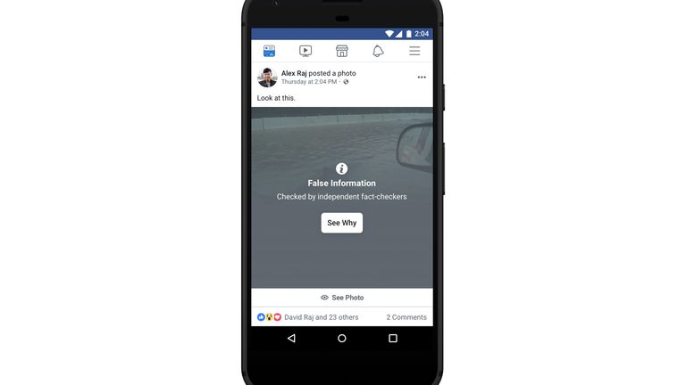 Facebook is to warning users about COVID-19 misinformation