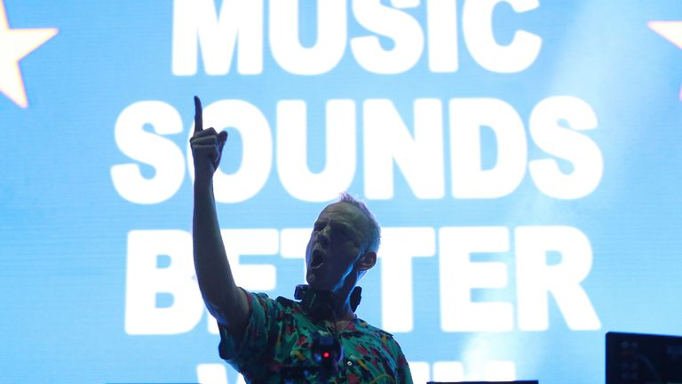 Fatboy Slim performs live at The Halls, Sydney Olympic Park on January 31, 2020 in Sydney, Australia