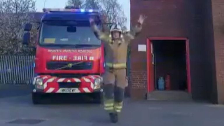 Firefighters urge public to stay home in Tiktok video