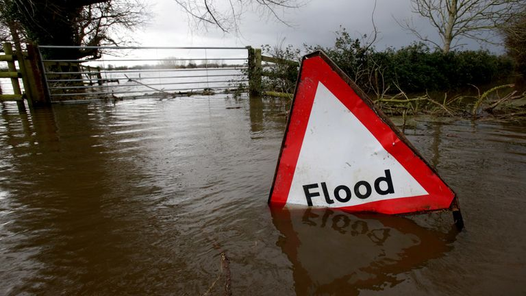 Eight flood warnings are in place across southern England