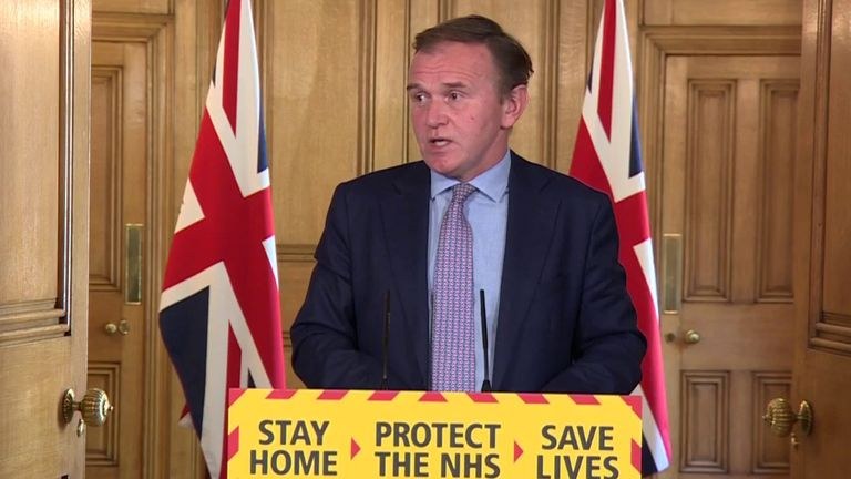 George Eustice says only around a third of migrant workforce for UK harvest is present in the country