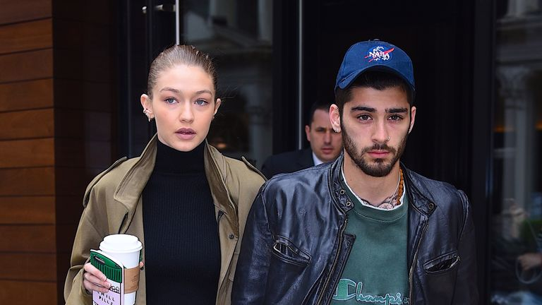 Gigi Hadid and Zayn Malik seen out in Manhattan on April 25, 2017 in New York City