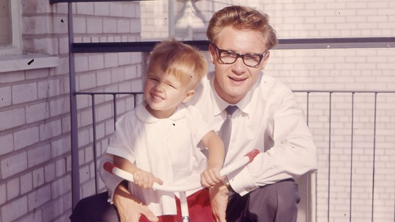 Greg Hands (L) with his father. Pic: Greg Hands/Twitter