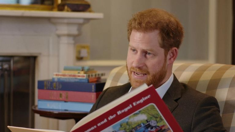 Prince Harry has recorded a special message to celebrate the 75th anniversary of children's favourite, Thomas The Tank Engine.
