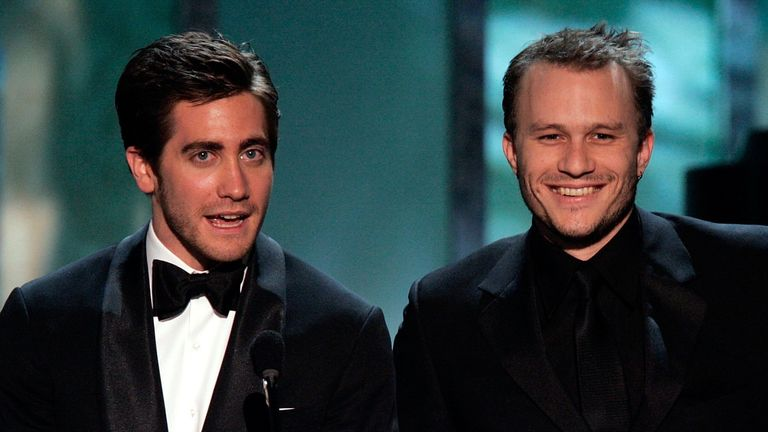 Screen Actors Guild Awards 2006 - Jake Gyllenhaal and Heath Ledger introduce a clip of Brokeback Mountain, nominee for Outstanding Performance by a Cast in a Motion Picture