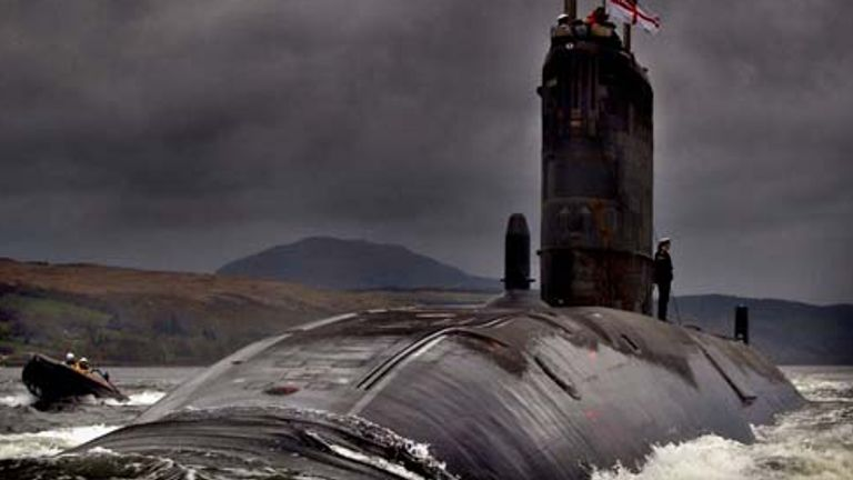 HMS Trenchant is a Trafalgar class nuclear submarine. Pic: Royal Navy