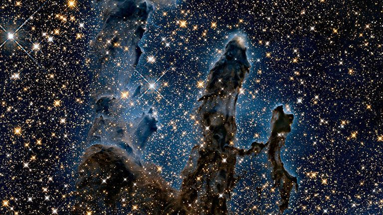 The Eagle Nebula's Pillars of Creation,  captured in infrared by the Hubble Space Telescope. Pic: NASA