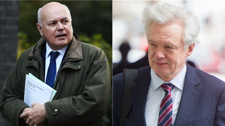 Sir Iain Duncan Smith (left) and David Davis (right) disagree with the reluctance to openly discuss a strategy
