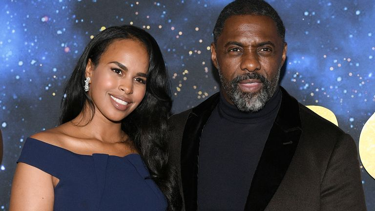 "Sabrina Dhowre Elba (L) and Idris Elba attend the world premiere of ""Cats"" at Alice Tully Hall, Lincoln Center on December 16, 2019 in New York City"