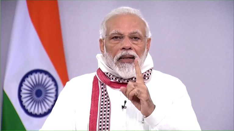 Prime Minister Narendra Modi today said that the nationwide lockdown, which was to end today, will be extended further.