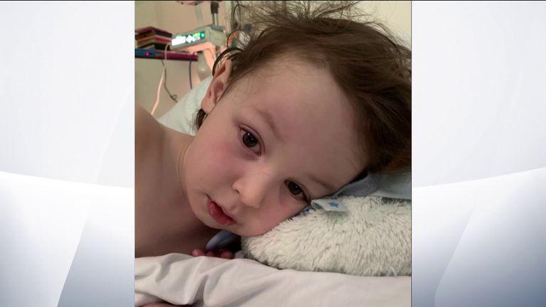 Marley Grix was treated in hospital