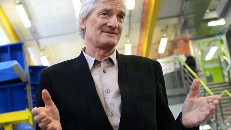 James Dyson says his ventilator is 'no longer required' by the government