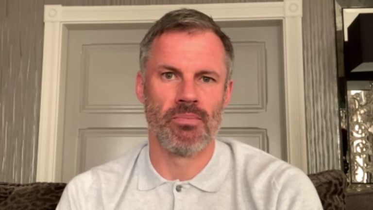 Jamie Carragher says it is up to coronavirus when football can resume