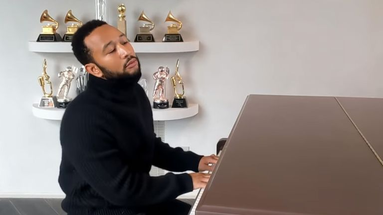 John Legend takes part in the One World: Together At Home event. Pic: Global Citizen