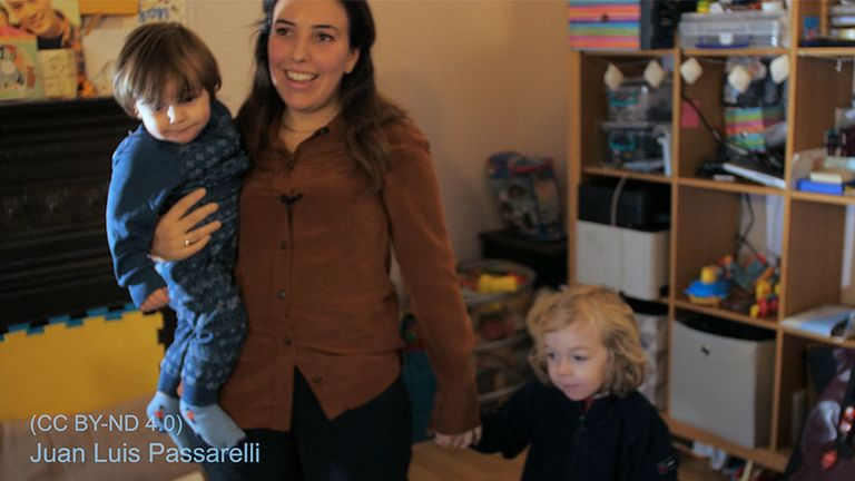 Julian Assange's partner Stella Moris and their son's Gabriel and Max