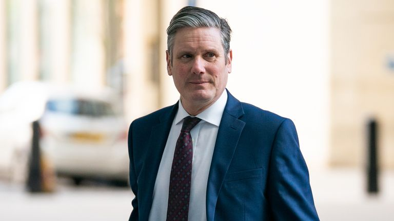 Newly-elected Labour leader Sir Keir Starmer arrives at BBC Broadcasting House in London to appear on the Andrew Marr show.