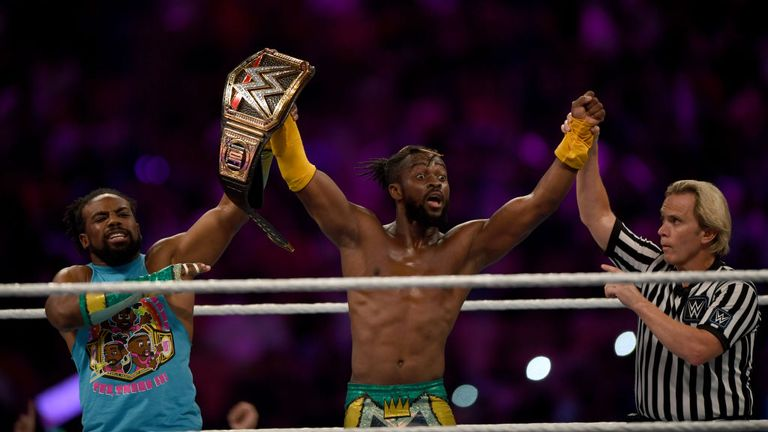 WWE will continue to broadcast during the coronavirus lockdown. File photo of WWE Superstar Kofi Kingston