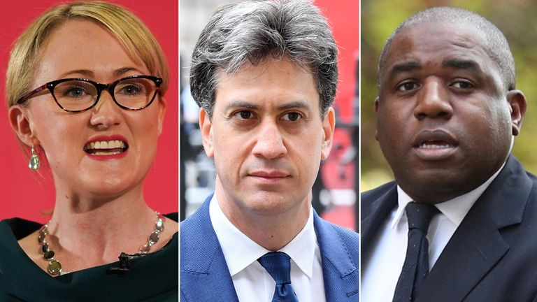 Rebecca Long-Bailey, Ed Miliband and David Lammy. Pics: Getty Images/Anthony Harvey/Shutterstock/PA