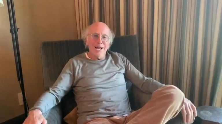 Curb Your Enthusiam's Larry David had a message for Californian's on lockdown - stay at home and watch TV