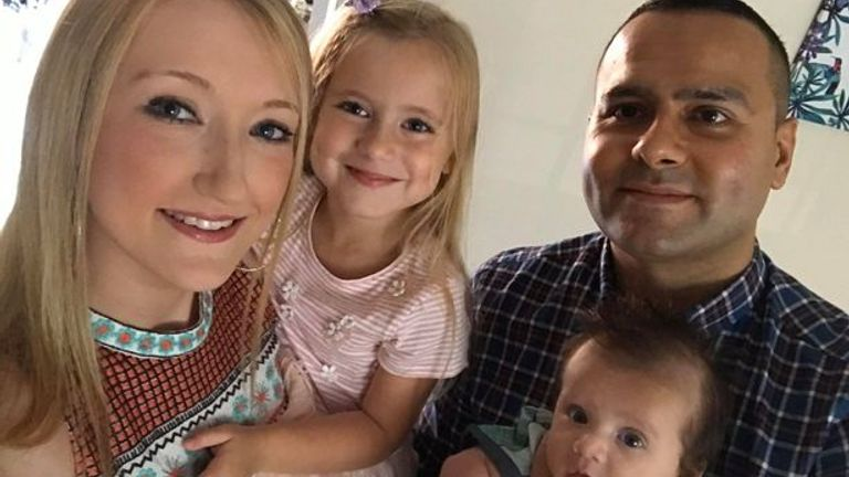 Laura and her family  were all tested for COVID-19. Pic: Jacobs family
