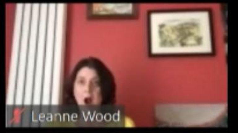 Welsh AM Leane Wood pictured reacting to health minister Vaughan Gething swearing about a colleague