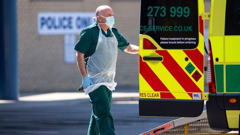 A member of London Ambulance Service