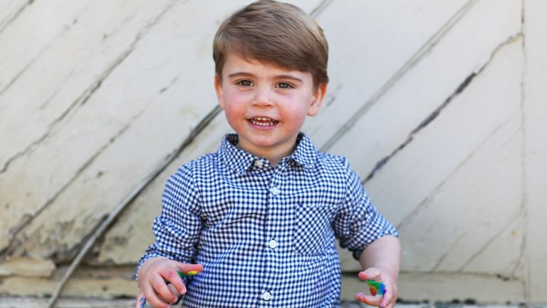 Undated handout photo released by Kensington Palace of Prince Louis, who celebrates his second birthday Thursday, taken by his mother, the Duchess of Cambridge. PA Photo. Issue date: Wednesday April 22, 2020. Pic: The Duchess of Cambridge