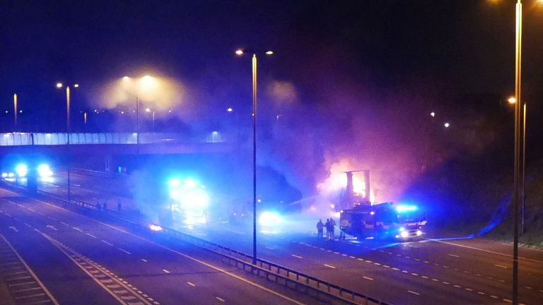The M62 in West Yorkshire has been closed