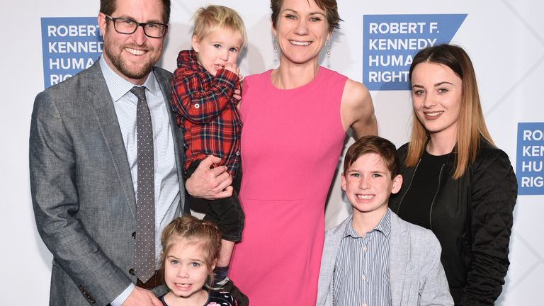 David McKean, Maeve Kennedy Townsend Mckean and family attend the Robert F. Kennedy Human Rights Hosts 2019 Ripple Of Hope Gala & Auction In NYC on December 12, 2019 in New York City