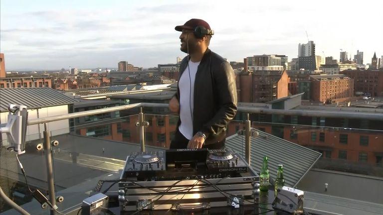 DJ Nkosi Inniss performing his 'safe rave'