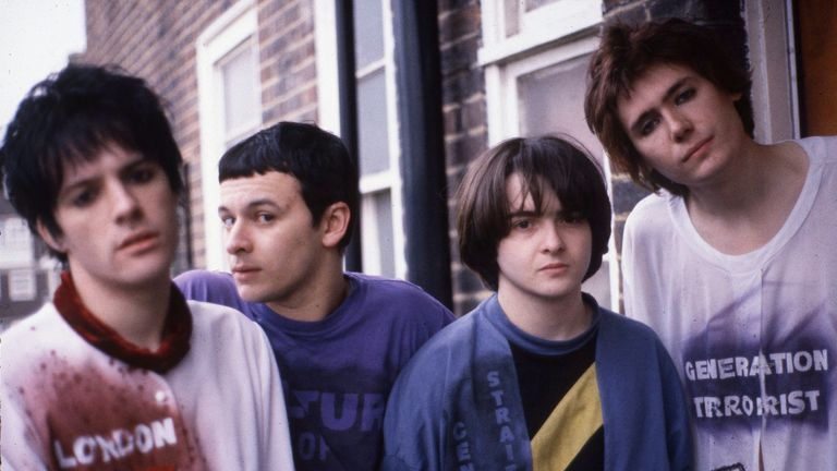 The band in 1991 (L-R) Richey Edwards, James Dean Bradfield, Sean Moore and Nicky Wire