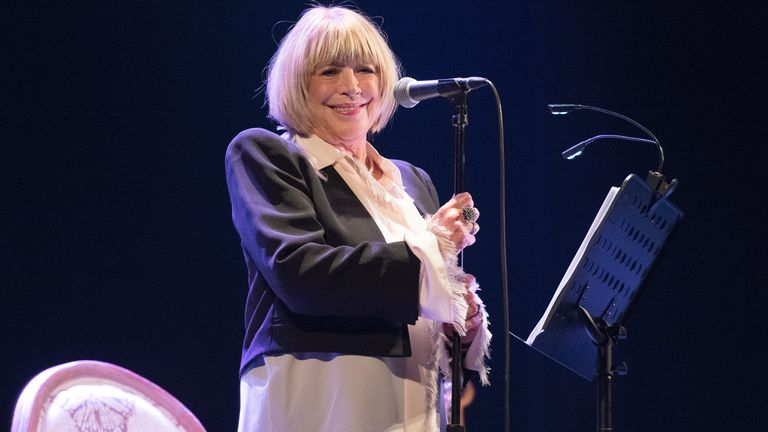 Marianne Faithfull performs at Le Trianon on October 7, 2015 in Paris, France