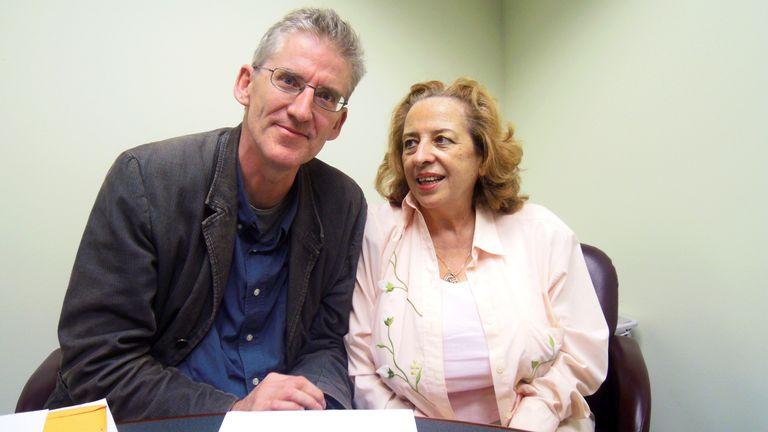 Reprieve founder Clive Stafford Smith with Marita Maharaj