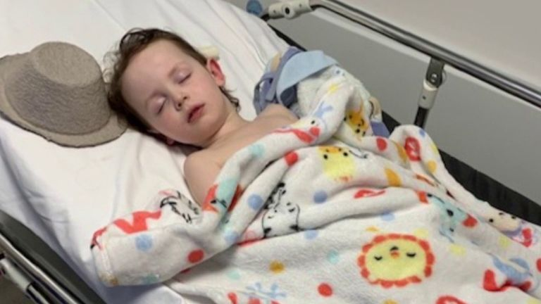 Marley had to be treated in hospital after he suffered the new disease linked to coronavirus