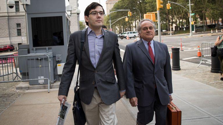 Martin Shkreli and his lawyer Benjamin Brafman