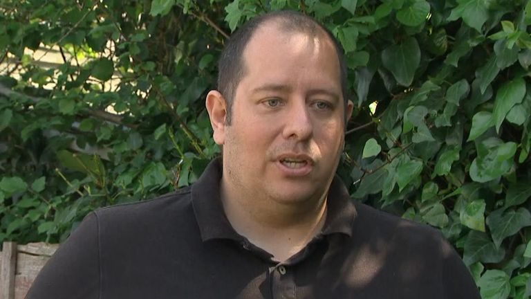 Matt Dockray, 39, used an iPad to communicate with his family while in intensive care