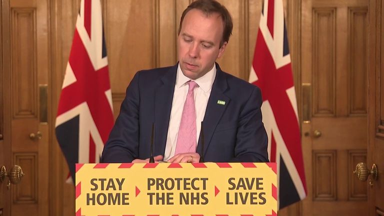 Matt Hancock will not apologise for deaths in care homes