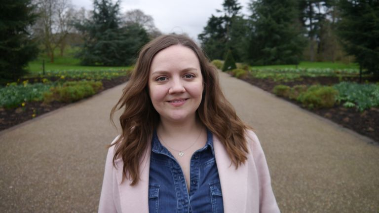 Meegan Corne, personal assistant for the oncology directorate management team at Guy's and St Thomas' NHS Foundation Trust, is part of the Breathe Harmony Choir singing Mariah Carey's Anytime You Need A Friend