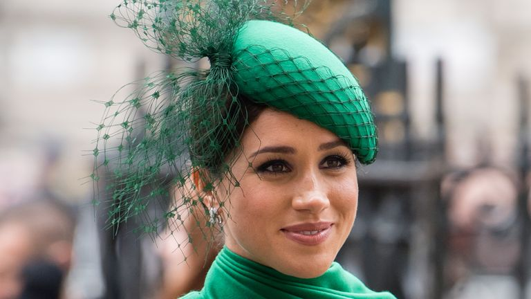 The Duchess of Sussex at the Commonwealth Day Service in March